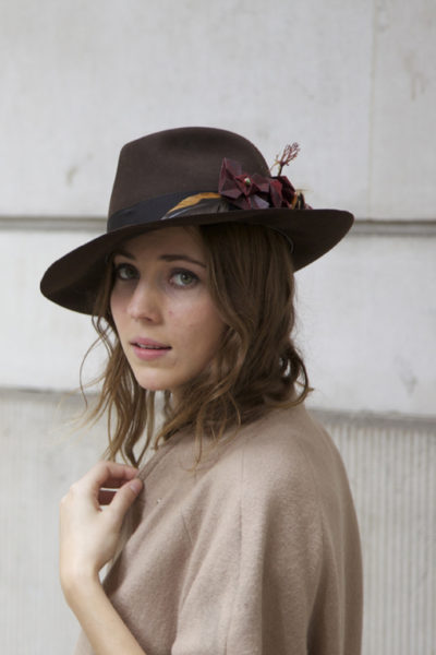 Fedora Hat -Ornella Gallo Di Fortuna- Millinery Collection