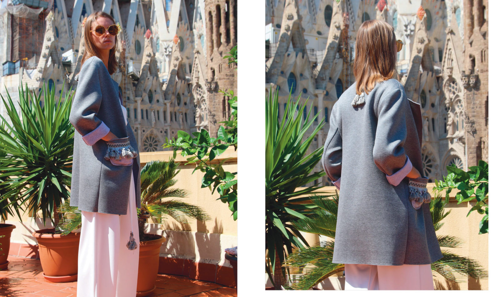 Cruise Collection Grey Cotton Jacket