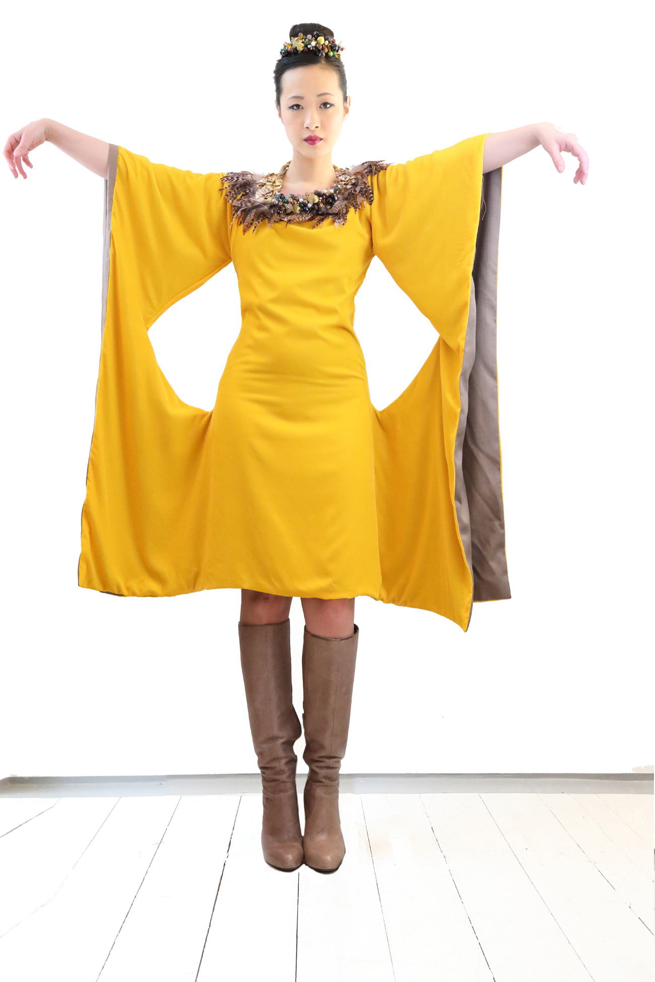 c26805f852 Yellow Velvet Dress #15