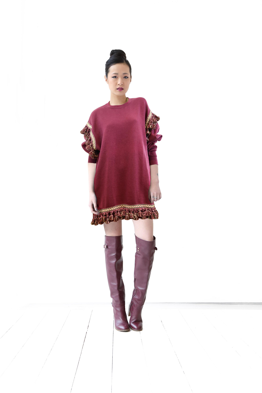 8119b3eba6 Burgundy Sweater Dress - Capsule Kohana